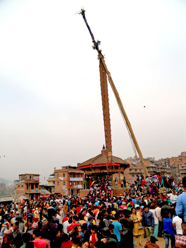 Nepali New Year and Bisket Jatra - Bhaktapur 5