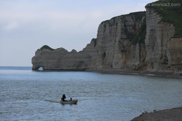 Fishing at Étretat