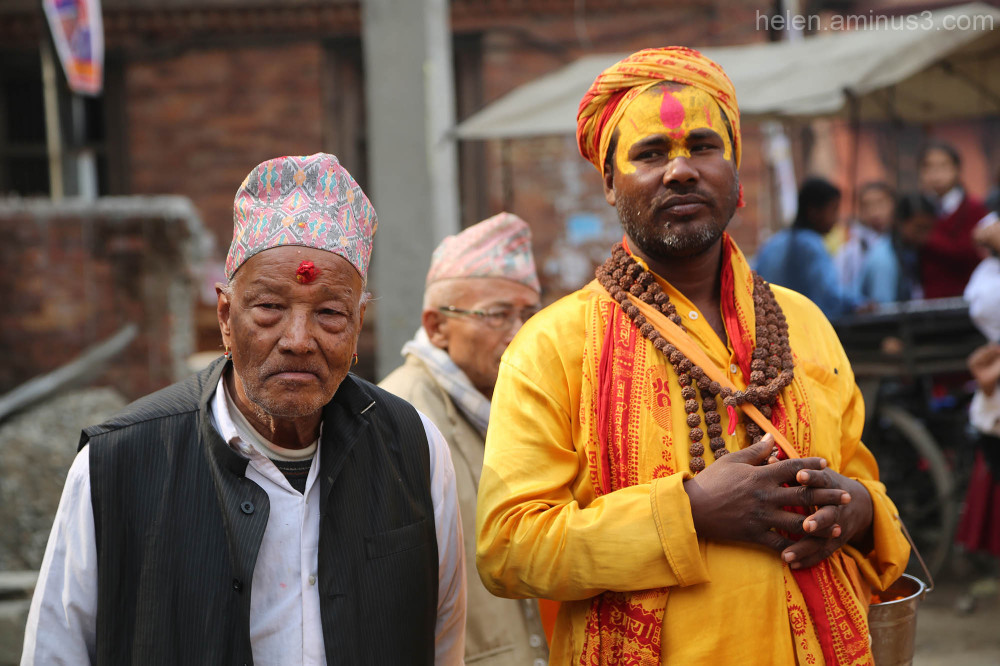 Men of Bhaktapur