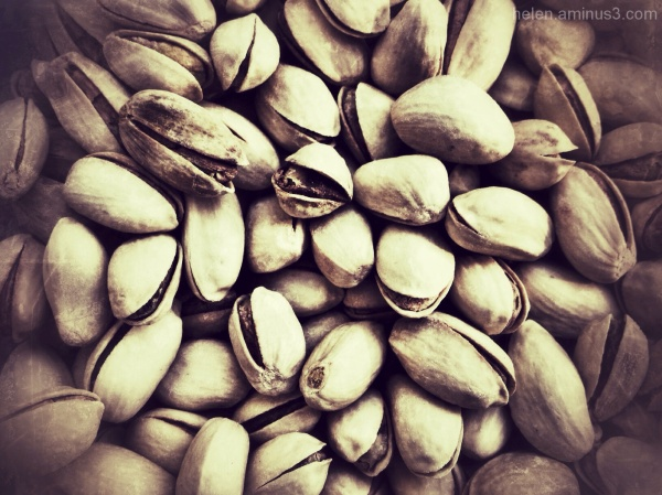 Eating pistachios when on holidays!