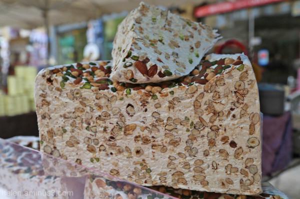 Pistachio, almond and hazelnut nougat