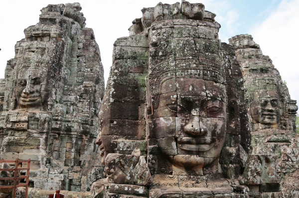 Angkor Thom: Bayon temple (detail) 2 of 3