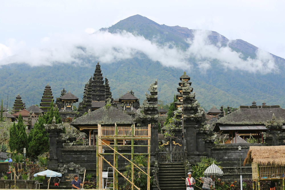 Pura Besakih on the mountain