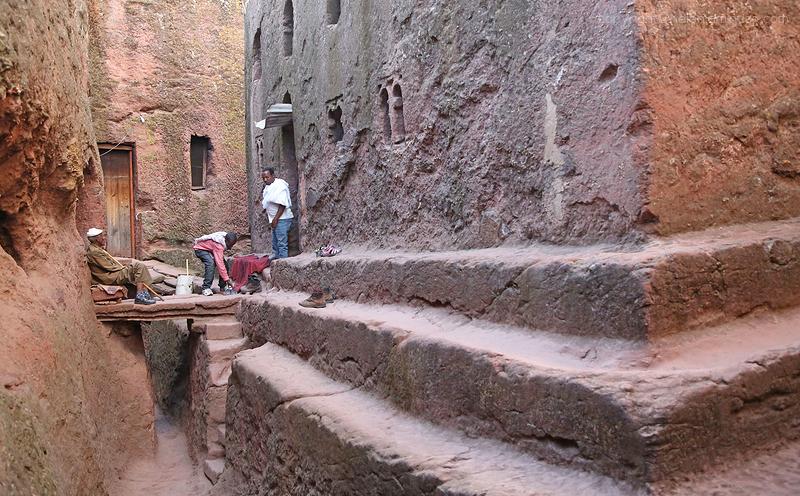 Rock hewn church   Lalibela