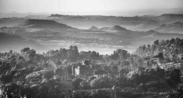 Gondar in monochrome