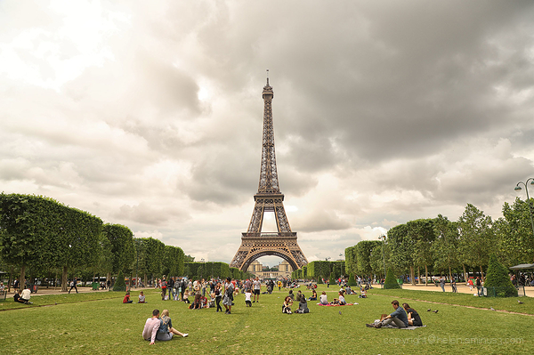 Clouds over the Eiffel Tower