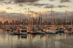 Boats at dusk