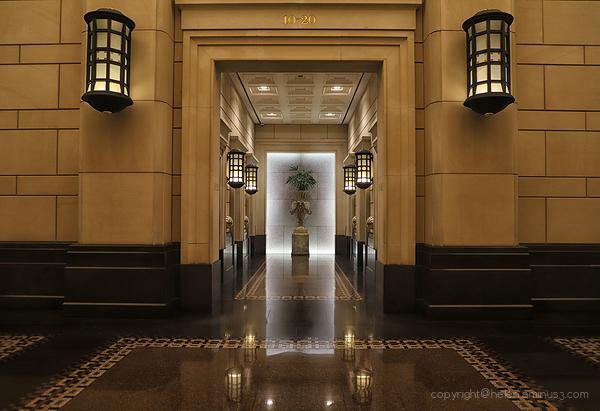 Lights in the doorway