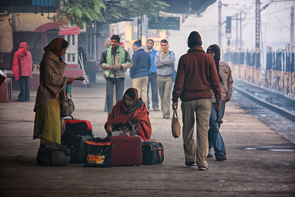 Foggy morning - Varanasi Station