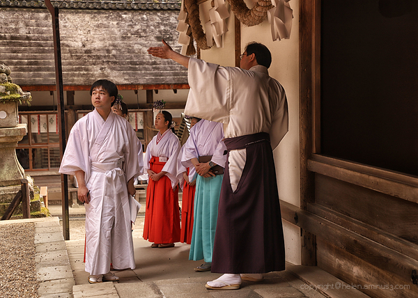 Lessons at Kasaga Shrine