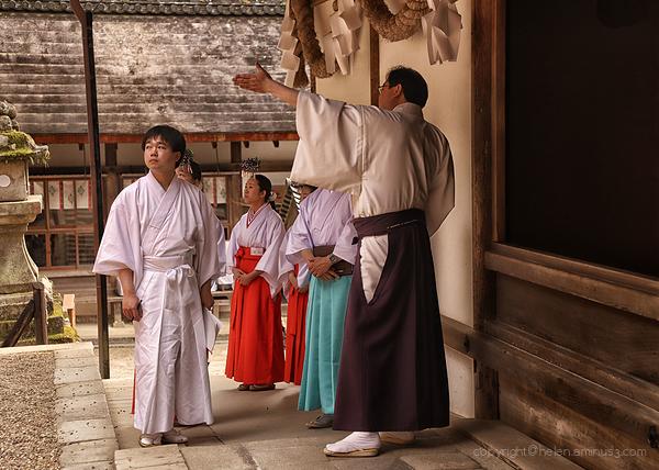 Lessons at Kasaga Shrine