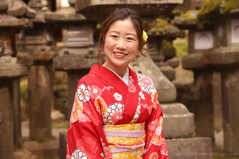 Girl at Kasaga Shrine