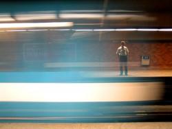 Metro train in Montreal, Canada.