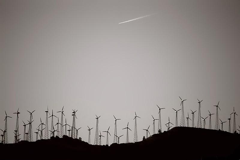 Windfarm in Tehachapi, California.