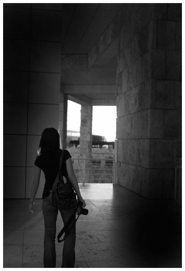 Rika with Camera During Our Visit To The Getty