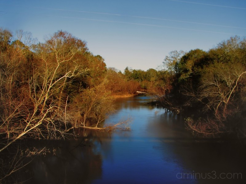OCLOCKNEE RIVER - FROM THE BRIDGE