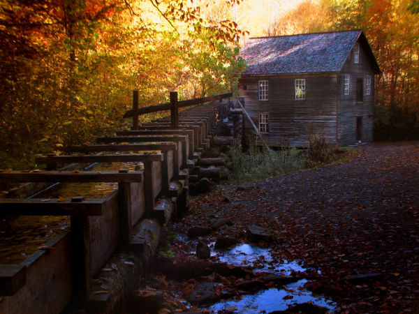 the Mingus Mill is a working grist mill.
