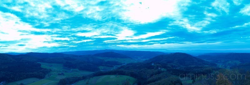 view to the Vosges, France