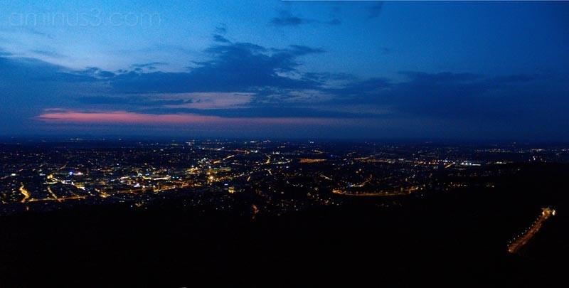 Stuttgart as seen from above