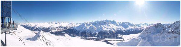 panoramic view from Piz Nair
