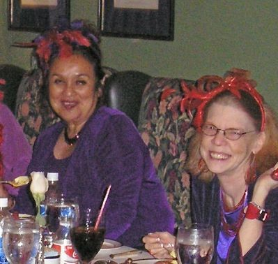 Patricia and Susan at Pacific Dining Car