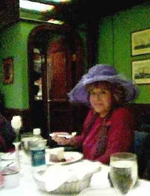 Anita enjoying her dessert