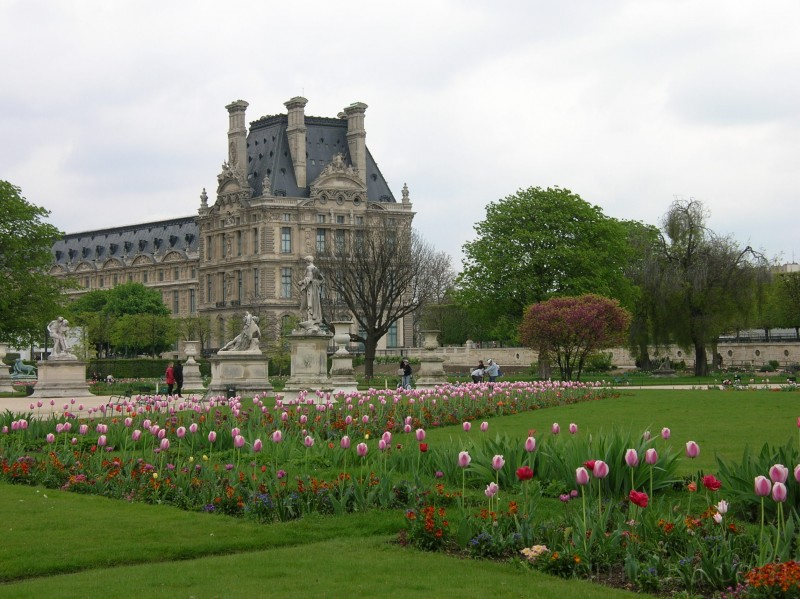 Louvre in spring