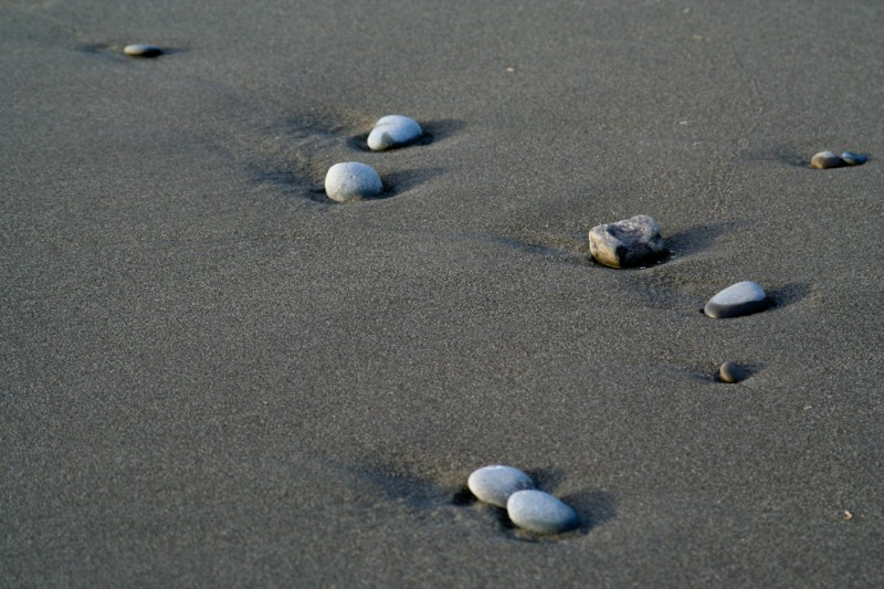 Pebbles on a Beach in Mendocino County