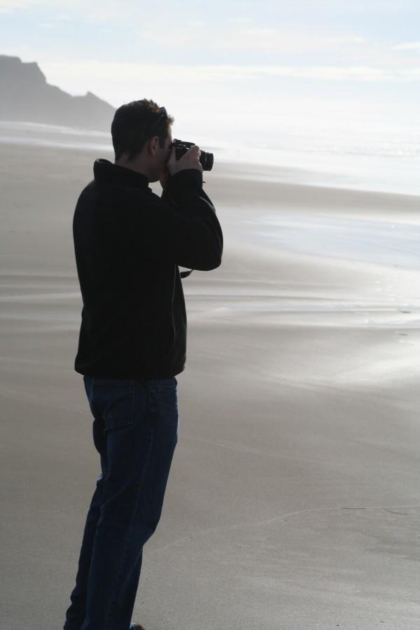 Son on a Mendocino Beach