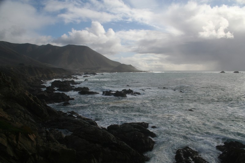 Rain Squals Offshore at Big Sur