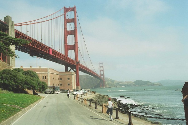 A View of the Golden Gate Bridge at Fort Point
