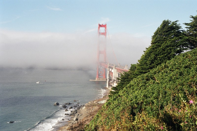 Fog Passing Through The Golden Gate