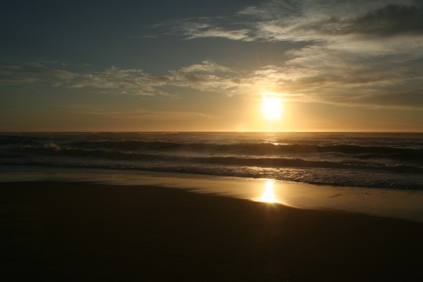 Sunset at Pescadero, California