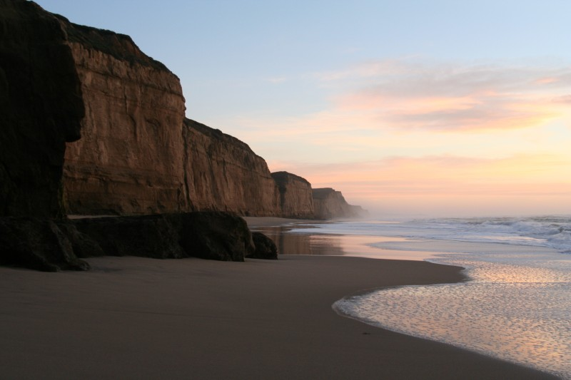 Dusk at Pescadero, California
