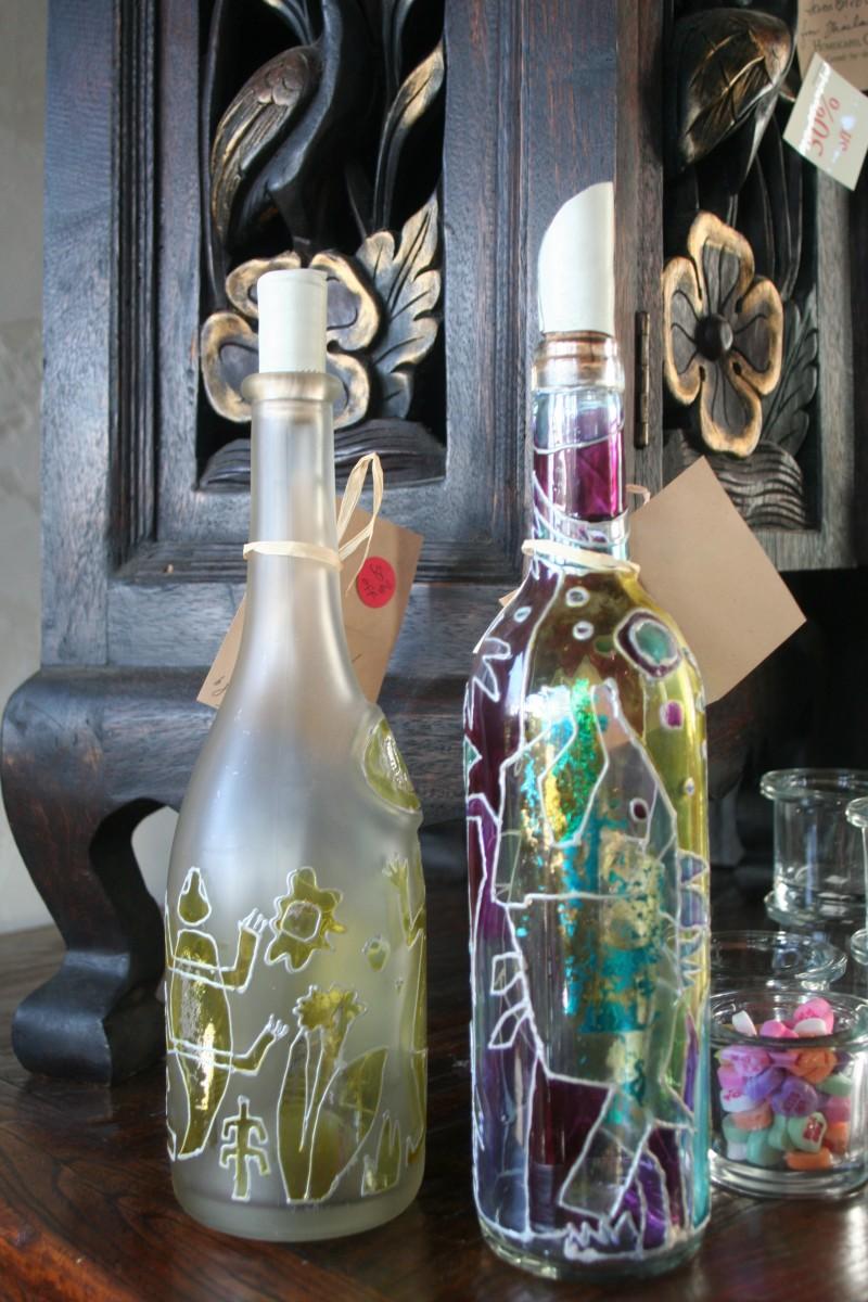 Bottles in an Art Gallery in Carmel, California