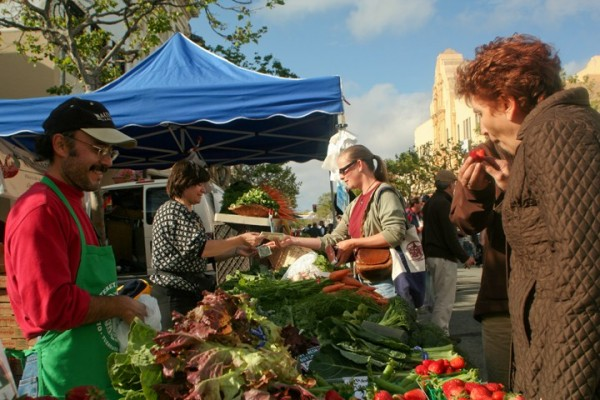 At the Monterey Farmers' Market