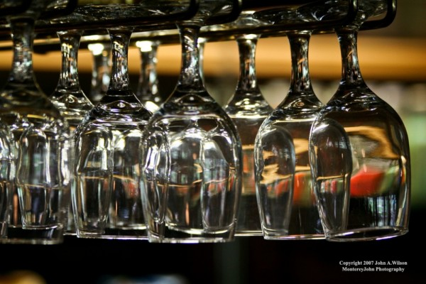 Glasses above the Bar