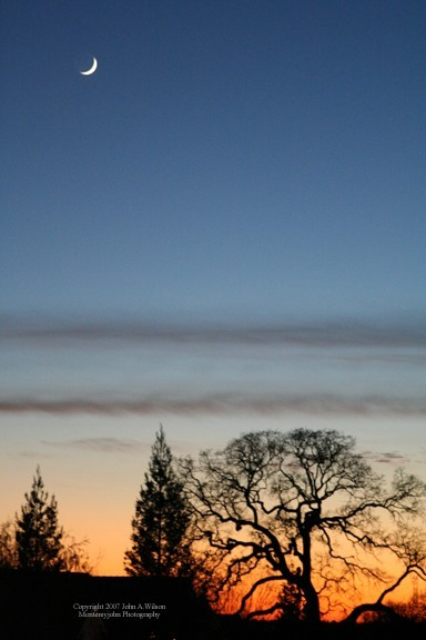 Dusk in the Sierra Foothills