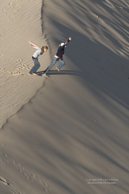 On the Sand dunes of Monterey Bay