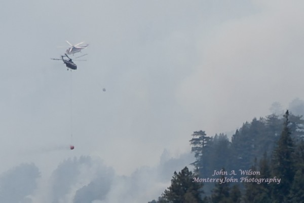 Fire in the Santa Cruz Mountains