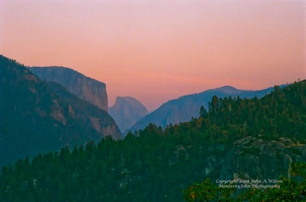 Yosemite NP - Half Dome - at Sunset
