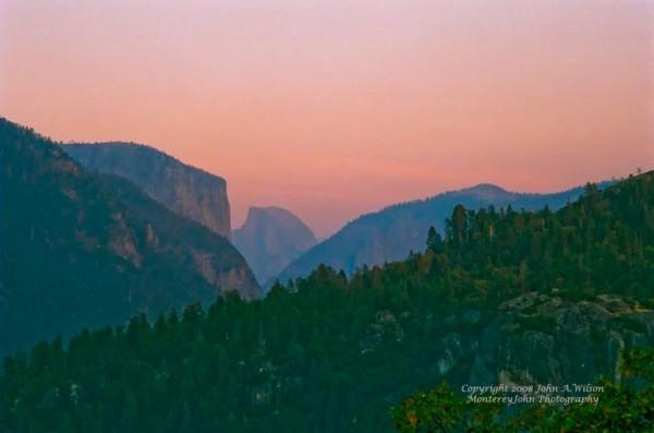 Yosemite NP - Half Dome - at Sunset