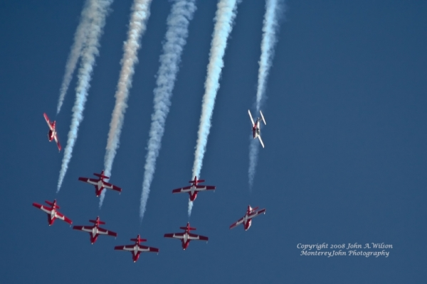 Canadian Snowbirds at Salinas, CA Air Show