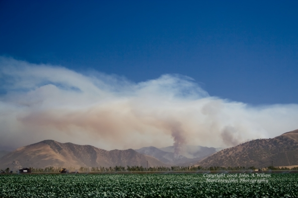 Indians Fire - Fire in Monterey County CA