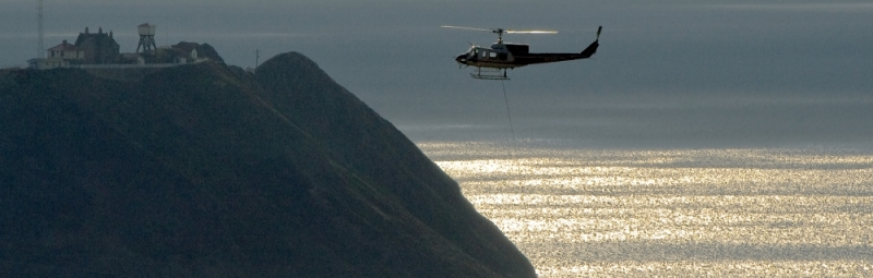 Big Sur Basin Fire - Firefighting Helicopter