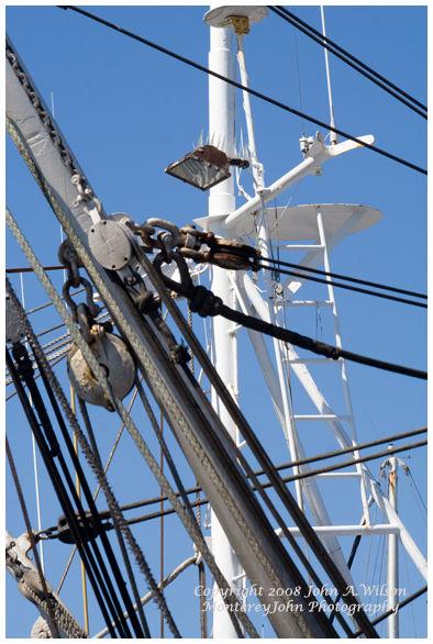 Monterey, CA - rigging on fishing boat