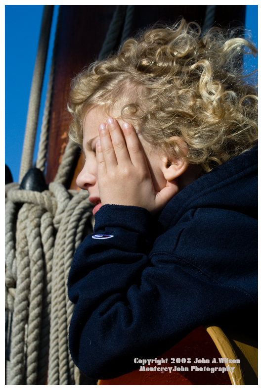 Boy Aboard the Hawaiian Chieftain