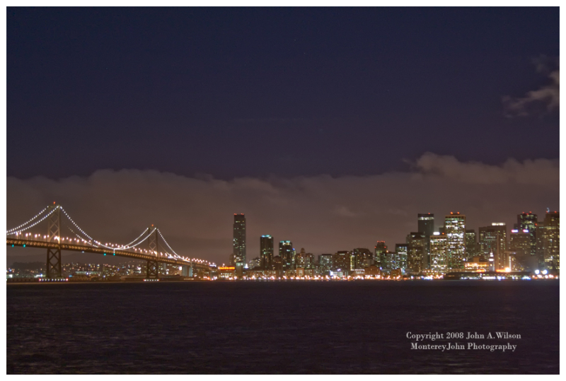 Bay Bridge and Downtown San Francisco