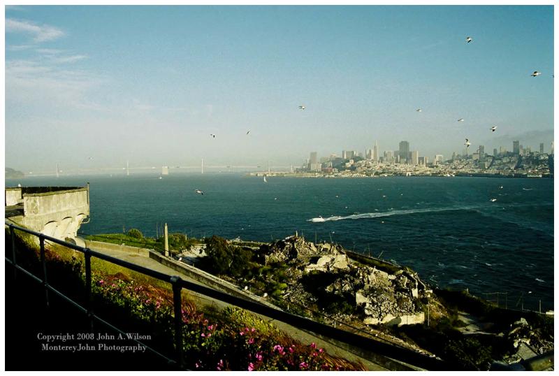 San Francisco downtown as Seen from Alcatraz