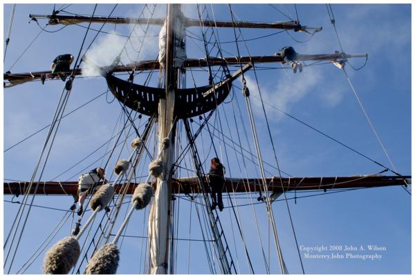 Hawaiian Chieftain - Setting Sail on Tall Ship